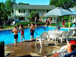 Outdoor pool at Gavin's Irish Country Inn.
