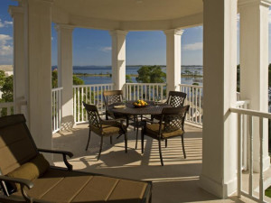 Rental patio at Sterling Resorts.