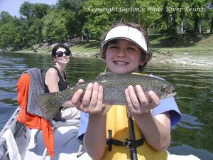 Family fishing at Gaston's White River Resort.