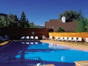 Outdoor pool at Rams Horn Village Resort.