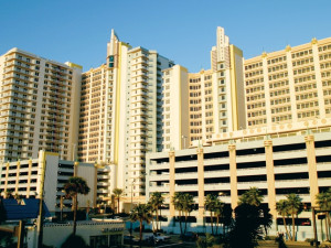 Exterior view of Wyndham Ocean Walk Resort.