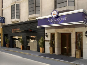 Exterior view of Harbor Court Hotel.