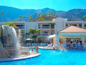 Outdoor pool at Palm Canyon Resort & Spa.