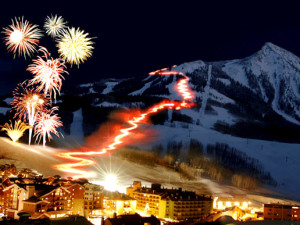 Christmas in Crested Butte Colorado near The Nordic Inn.