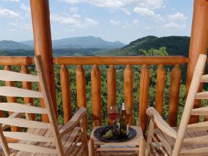 Cabin rental view at Timber Tops Rentals.