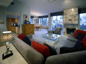 Condo interior at Vail's Mountain Haus.