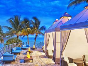 Private cabanas at The Westin Diplomat Resort.
