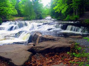 Bond Falls near Mountain View Lodges.