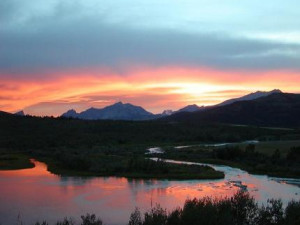 Sunset at Duck Lake Lodge.