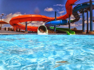 Water slides at Ocean Reef Resort.