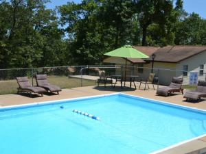Outdoor pool at Oak Ridge Resort.