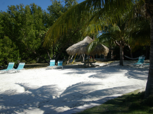 The beach at Rock Reef Resort.