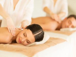 Couple's massage at Interlaken Resort & Conference Center.