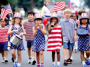 4th of July parade at Summit Vacations.