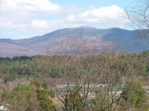Mountain view at Mountainside Resort.
