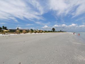 The beach at Sanibel's Seaside Inn.