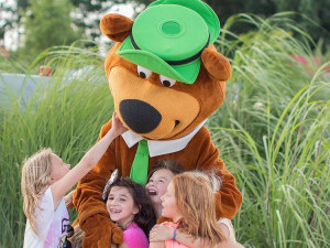 Family at Yogi Bear's Jellystone Park Gardiner.