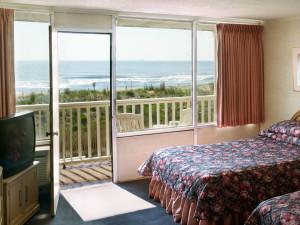 Guest room at Seabonay Motel Ocean City.
