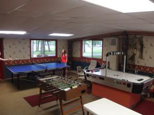Game room at Gull Lake Resort.
