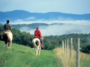 Horseback riding near The Green Mountain Inn.