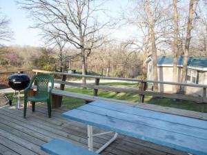 Deck view at Stillwater Resort.