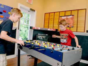 Game room at Rocky Crest Golf Resort.