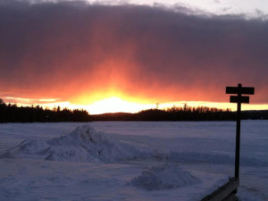Sunrise at Gunflint Lodge.