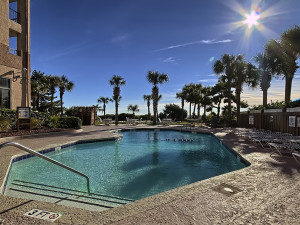 Outdoor pool at Beach Colony.
