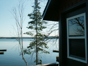 Cabin exterior at Balsam Cabin on Elephant Lake.
