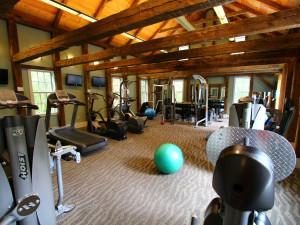 Fitness center at Basin Harbor Club.