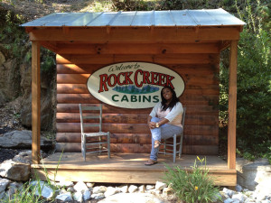 Rock Creek Cabins sign.