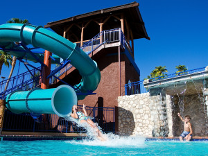 Water slide at London Bridge Resort.