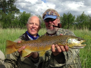 Fishing at Clark Fork River Lodge.