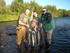 Family fishing at Northwoods Lodge.