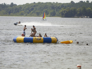 Water activities at Ruttger's Bay Lake Lodge.
