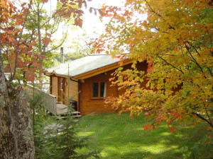 Cabin exterior at Cedarwood on Lake Muskoka.