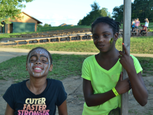 Face painting at YMCA Trout Lodge & Camp Lakewood.