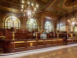 Lobby at Hotel Metropole.