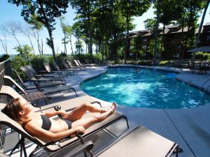 Relaxing in the sun at Landmark Resort
