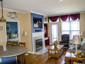 Suite interior at Delavan Lake Resort.