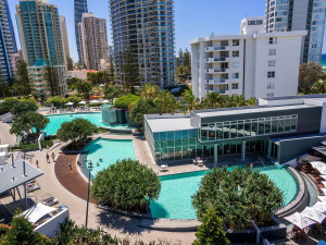 Outdoor pool at Q1 Resort Surfers Paradise.