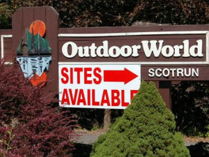 Entrance to Outdoor World Campgrounds Scotrun