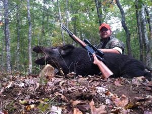 Hunting at Caryonah Hunting Lodge.
