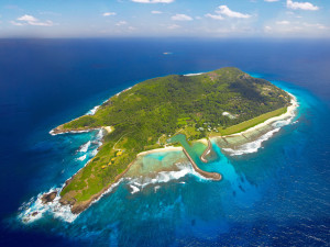 Aerial view of Fregate Island.