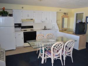 Guest kitchen at Shoreline Island Resort.