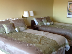 Guest room at Pointe West Resort & Suites.