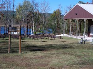 Recreational area at Lindsey's Rainbow Resort.