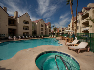 Outdoor pool at Holiday Inn Club Vacations at Desert Club Resort.