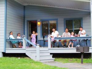 Family at The Depe Dene Resort.