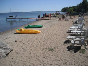 The beach at Anderson's Northland Lodge.